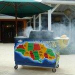 Jerk chicken cart... soooo good!