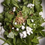 Warm Spinach Salad with Local Goat Cheese