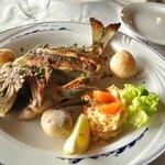Un poisson grillé type mérou délicieux