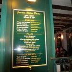 See the menu..It was wonderful.