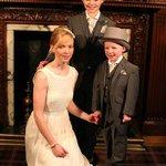 Bride Elaine with newphews
