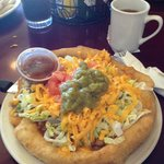 the Indian Fry Bread Taco..mini size!  Yum,,more than enough!