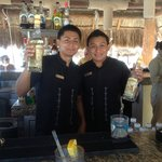 Best bartenders! Jorge and Ismael at the Tikki Bar