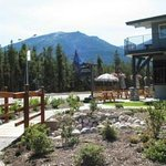Garden Area at Front of Hotel in Jasper