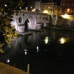 Bridge over Tiber River-15 minute walk from hotel