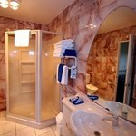 Marble and tile bathroom 2 bedroom units