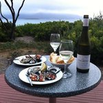 oyster dinner on our terrace