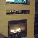 Flat Screen and Gas Fireplace
