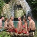 GREAT fun at the waterfall...