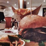 Banh Mi Burger with Cerevisia American Pale Ale