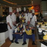 All the chefs and waiters