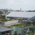 View of Universal Studio Singapore from balcony