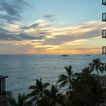 Sunset from our Partial Ocean View Room in Tower Wing