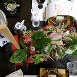 Fresh Sashimi from ajiro port