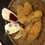 Fried oysters, ¥1,000.