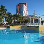 Pool area and the hotel