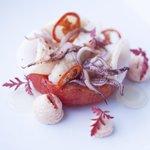 Calamaretti Chili Salz - Anis Tomate - Focaccia Salat