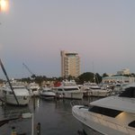 Evening - the Hotel from the Marina