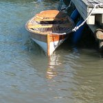 A wooden rowingboat for experienced lighter rowers. For Rent.