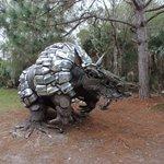 Fantastic sculptures along the way