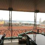 view from inside the breakast restaurant