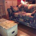 Comfy sofa in room 201