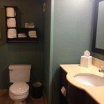 Bathroom with vanity in it.
