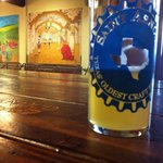 This was the Lawnmower beer, with cool murals in background