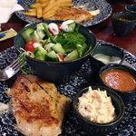Peri Peri Chicken breast with salad & coleslaw