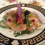 Crevetten Carpaccio mit Kaviar