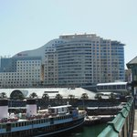View of hotel from Pyrmont bridge