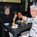 My husband and I at Cafedraal