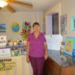 Former Owner Carole in shop