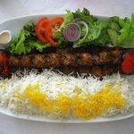 Kabab Makhsoos with rice