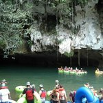 Where you put in for cave tubing