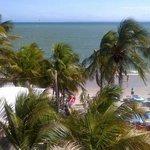 Vista da praia (varanda da suíte)