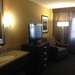Bedroom TV & extra mirror/sink