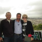 My husband and me with our driver Alex on the hill overlooking Athens.