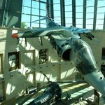 Harrier AV-8A prototype in the atrium
