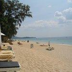 Det er stranden ved hotellet