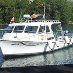 Dive boat that takes you to Ti Kaye Village