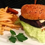 Burger (students night) - obviously not Italian but good