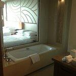 Bathroom looking into bedroom