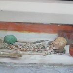 Burial chamber as it was found at Altin Ha Mayan site