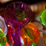Colored Plastic Spoons-  A lesson in gravitating toward what draws you.