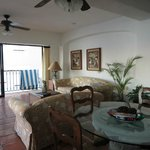 Living room at One Beach Street Corner King Suite