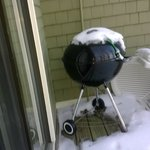 Little chilly for grilling...but private grill on unit deck