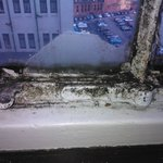 Grimy window fittings