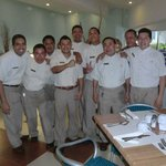 The wonderful people at the GAVIOTAS Restaurang