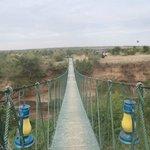 Swing bridge at Ilkeliani